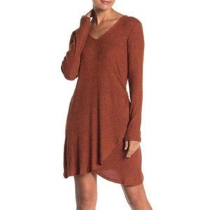 GOOD LUCK GEM Side Wrap Solid Knit Dress